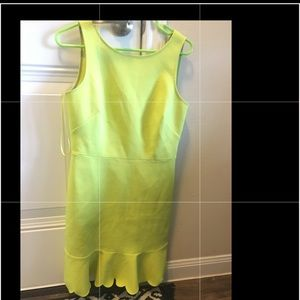 Lime Green Scalloped JCrew Dress